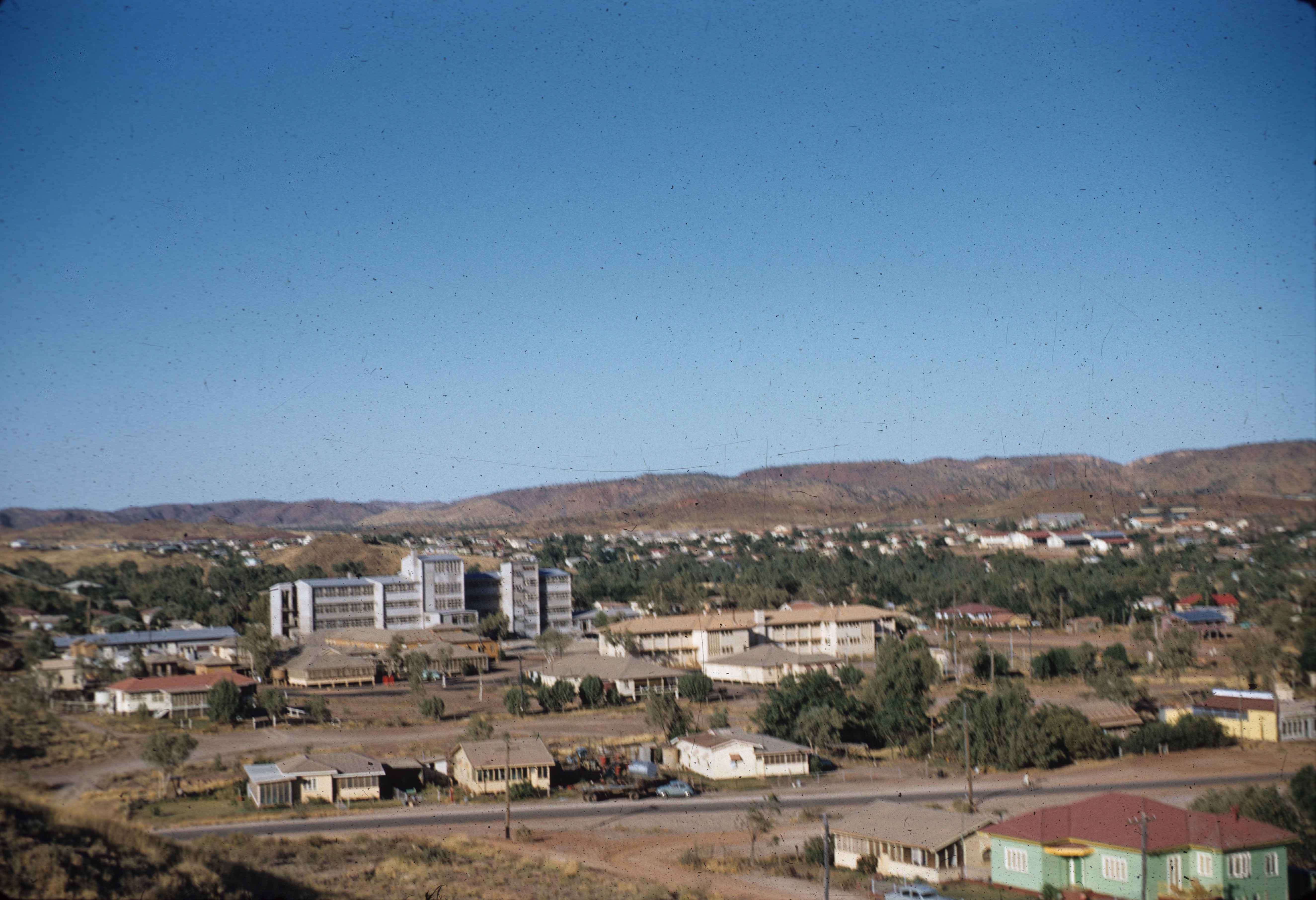 Mount Isa Hospital From Lookout 1960 Queensland