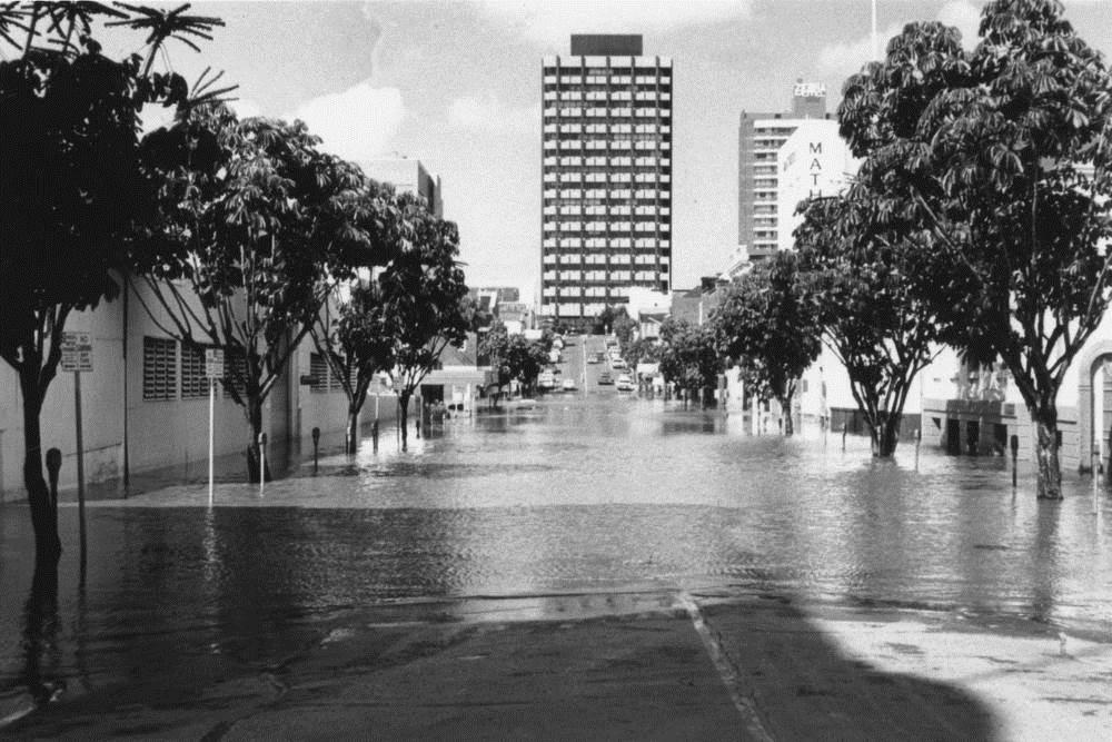 Flooding In Mary Street Brisbane 1974 Queensland
