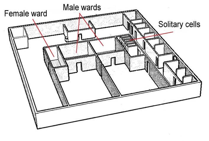 plan of communal wards  queens street gaol  brisbane