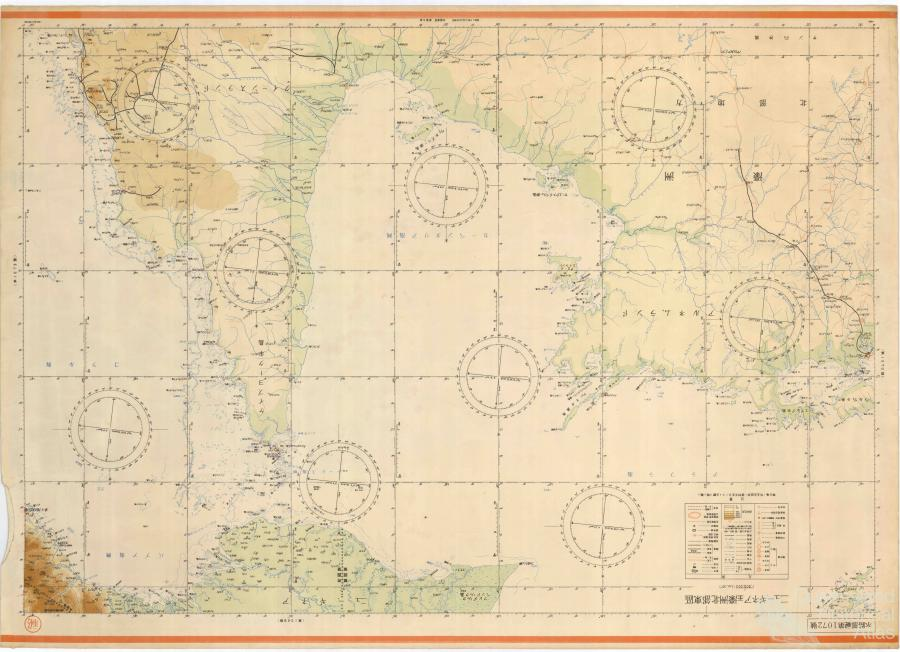 Northern Australia Map.Japanese Map Of Northern Australia And New Guinea 1942 Queensland