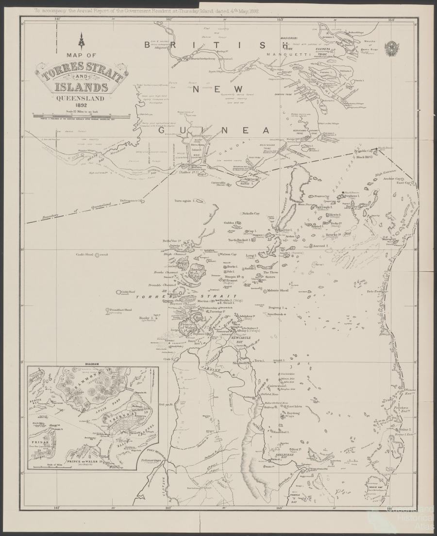 Torres Strait Islands Map Map of The Torres Strait And