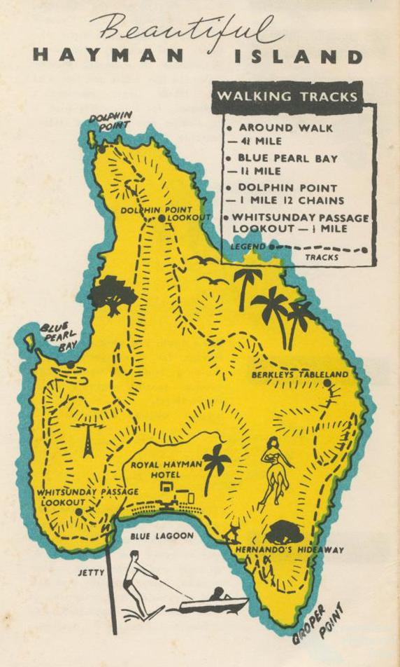 Hayman Island Map Australia Hayman Island, 1968 | Queensland Historical Atlas