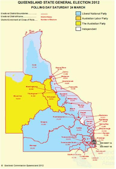 Qld electorate boundaries in dating