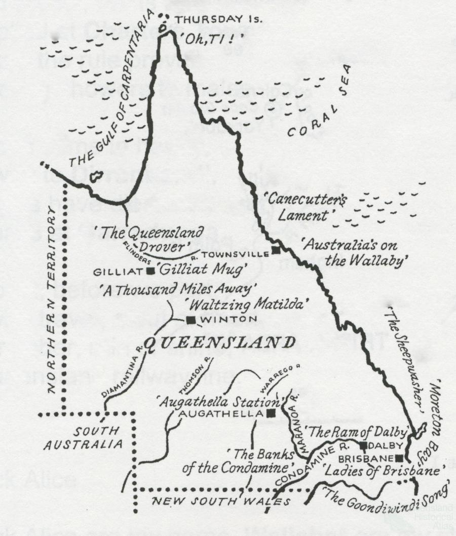 queensland map coloring pages - photo#11