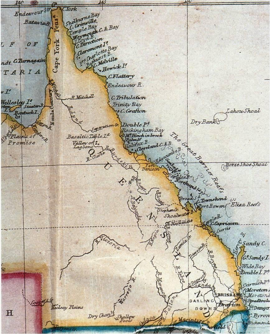 edward stanfords map of queensland