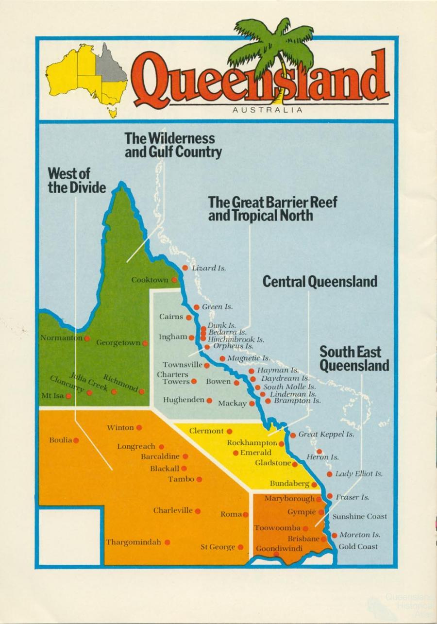 Queensland tourism regions c1990 Queensland Historical Atlas