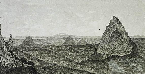 Glass House Mountains 1853 Queensland Historical Atlas