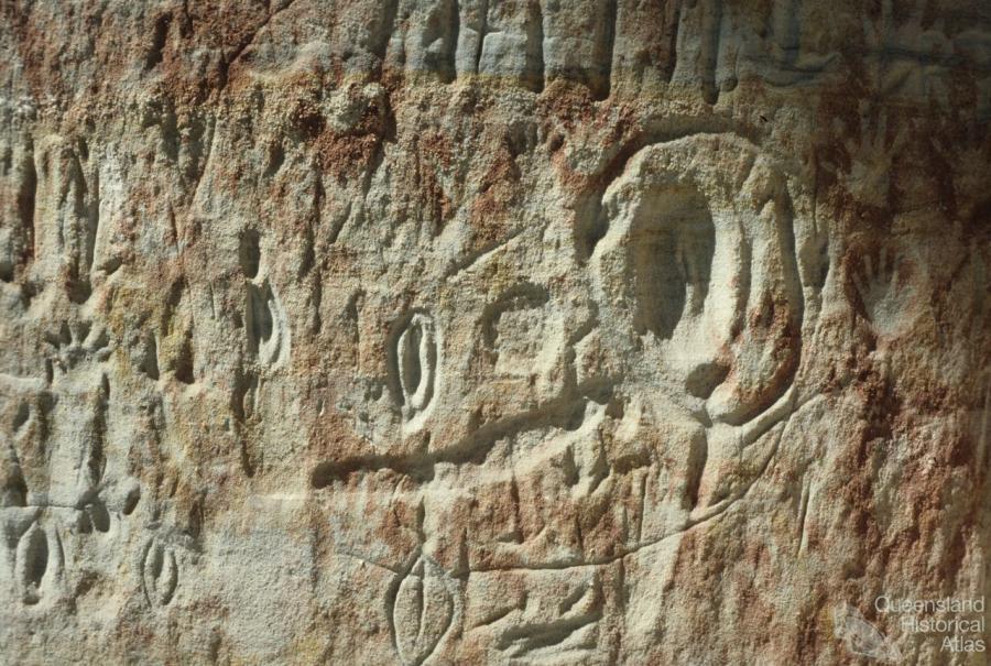 Aboriginal rock art, Carnarvon Gorge, 1980 | Queensland