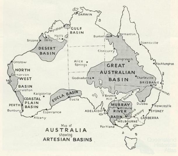 Great Artesian Basin water from deeper down Queensland