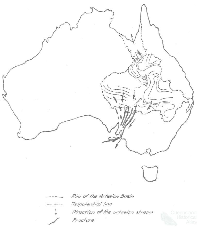 Map Of Australia Great Artesian Basin.Great Artesian Basin Water From Deeper Down Queensland Historical