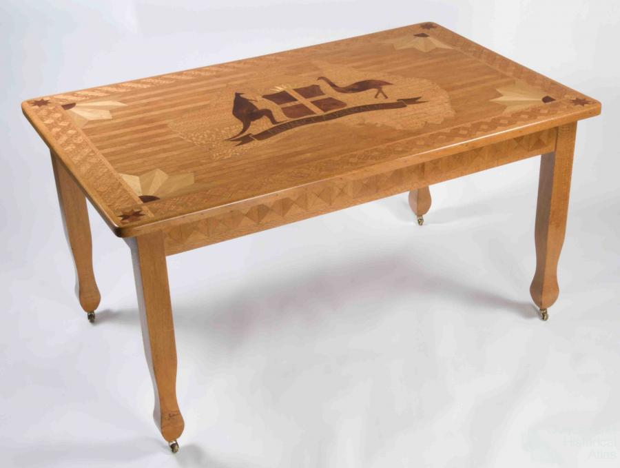 Inlaid Timber Table C1930s Queensland Historical Atlas