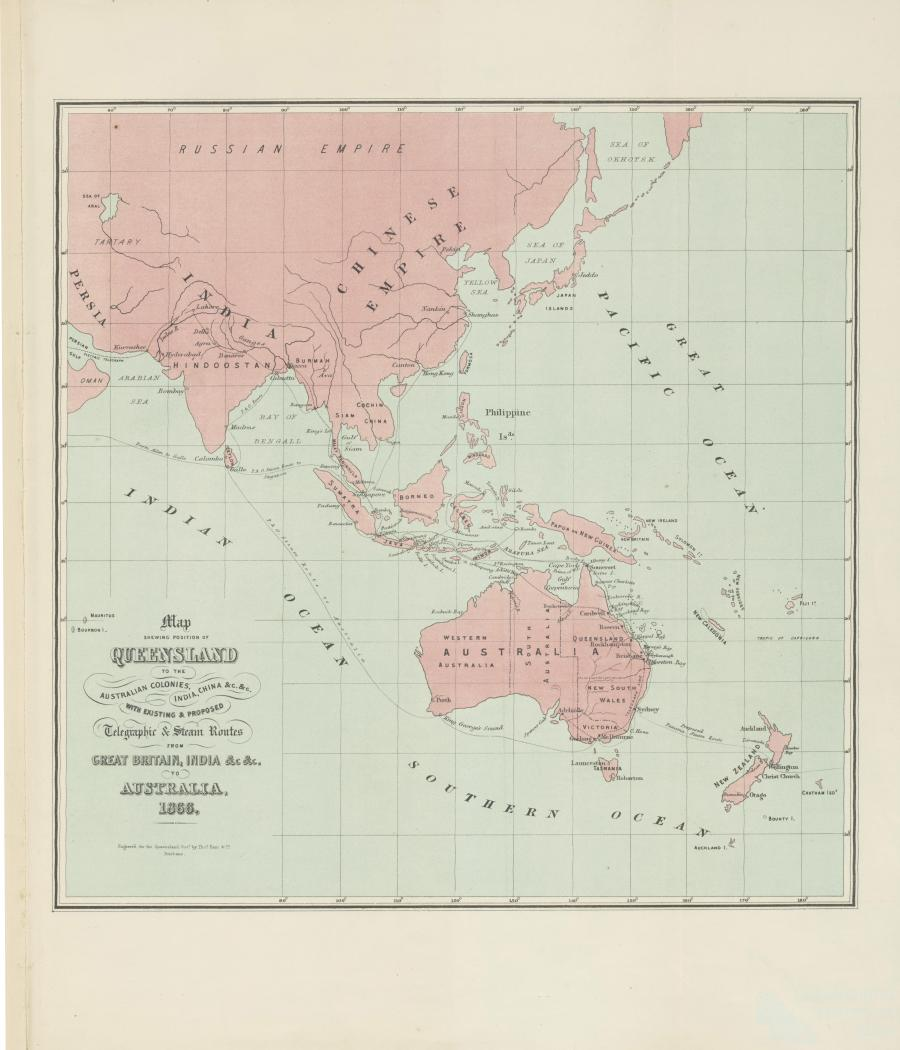 Show Map Of China.Map Showing Position Of Queensland To The Australian Colonies India