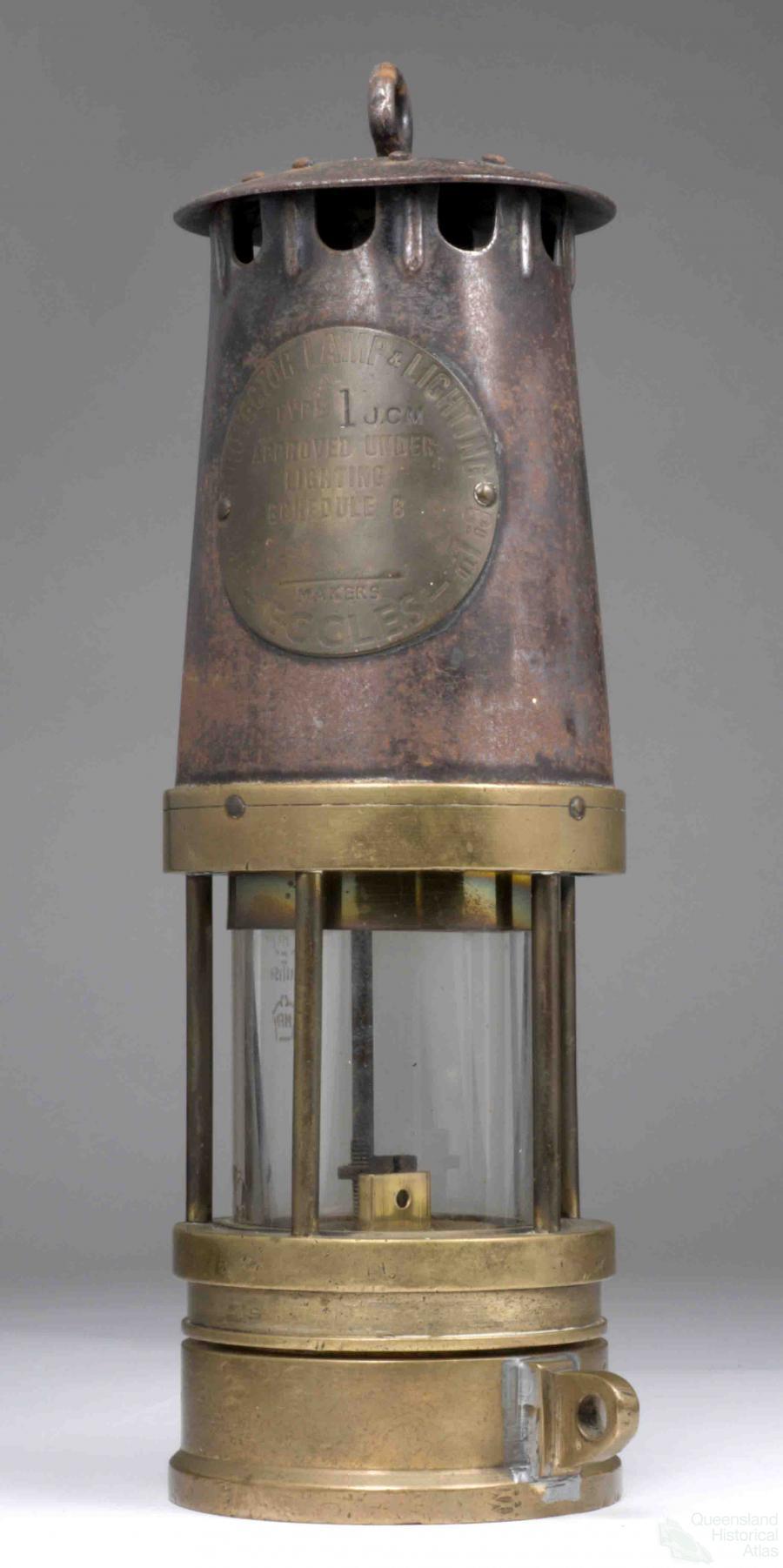 Miner's safety lamp | Queensland Historical Atlas