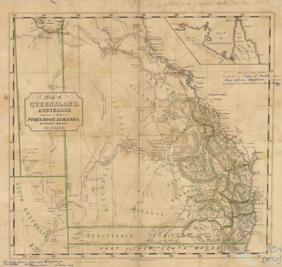 pughs book almanac map of queensland