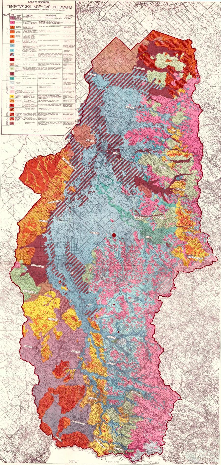 Darling Downs Soil Map 1952 Queensland Historical Atlas