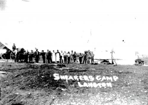 Shearer's camp, Langton Station, 1891