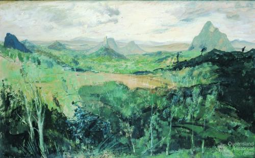 Glasshouse Mountains 1952