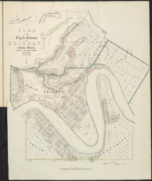 Plan of the City & Environs of Brisbane, 1865