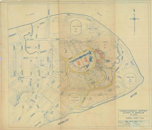 Layout Plan of University of Queensland site, 1950
