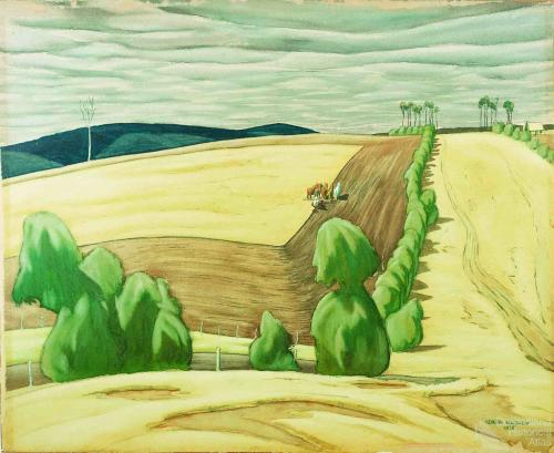 Ploughing the boundary, 1928