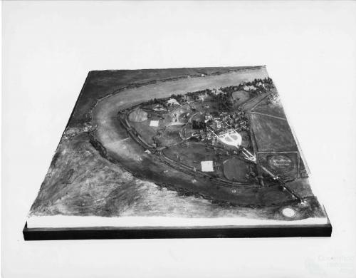 Model of possible St Lucia layout, c1936
