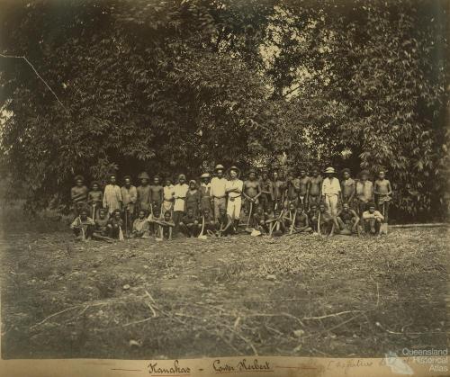 South Sea Islanders, Lower Herbert, c1890