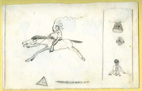 Aboriginal stockman, 1890
