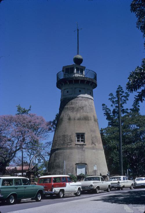 Convict-built windmill, erected in 1829, Wickham Terrace, Brisbane, 1971
