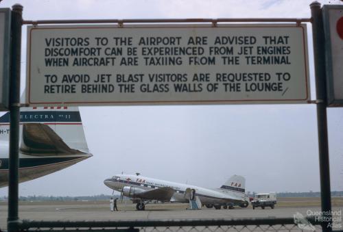Last TAA DC3 flight in Australia, Brisbane, 1968