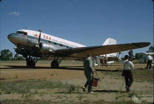 Last Trans-Australian Airways DC3 flight in Australia, Miles, 1968