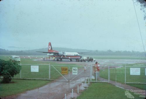 Ansett aircraft at Weipa airstrip, 1976