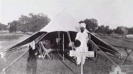 Charles Brand's tent, India 1910