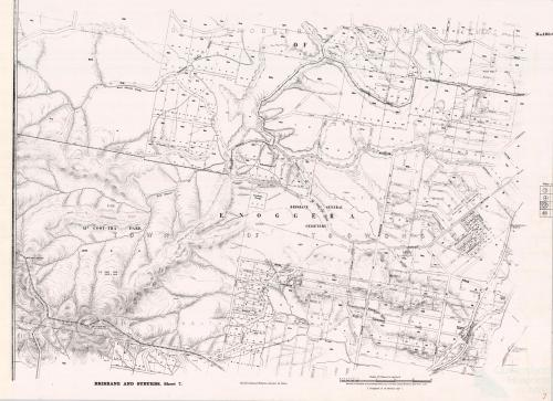 Brisbane and Suburbs showing Mount Coot-tha Park, 1905