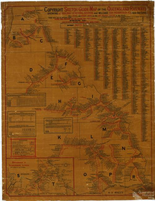 Sketch guide map of the Queensland Railways, 1904