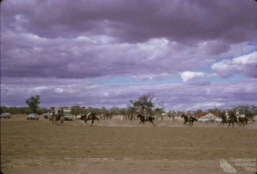 Thylungra station polo cross, west of Quilpie, 1976