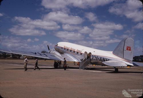 ANA aircraft, Rockhampton Airport, 1955