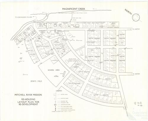Mitchell River Mission (now Kowanyama), re-housing plan, c1965
