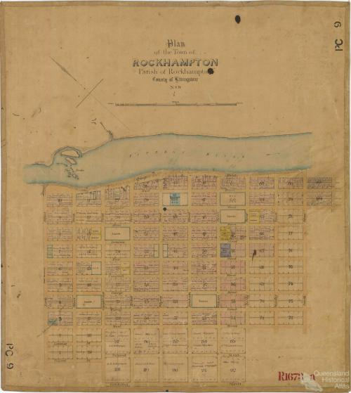 Plan of Rockhampton, 1858