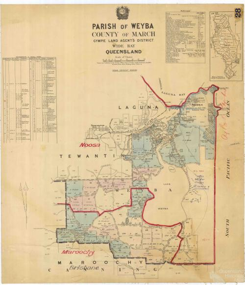 Suburban portions of Noosa and Tewantin, 1944