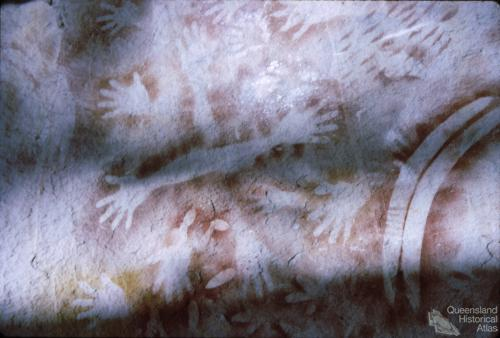 Aboriginal rock art, Carnarvon National Park, 1967