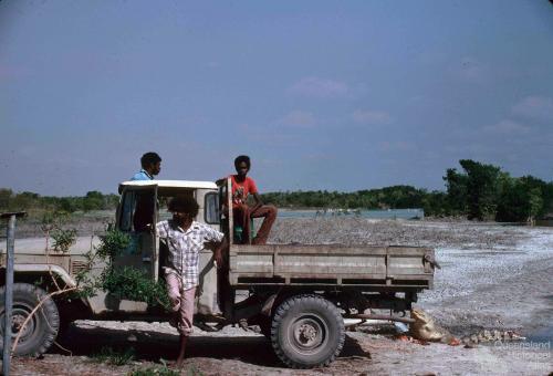 Edward River Mission (now Pormpuraaw) crocodile farm, 1990