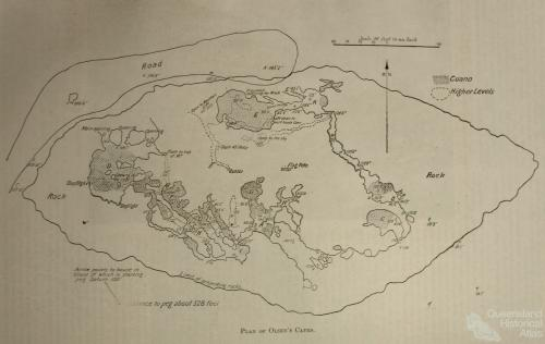 Plan of Olsen's cave, 1903