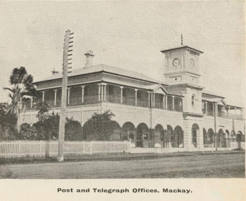 Post and telegraph offices, Mackay, c1908