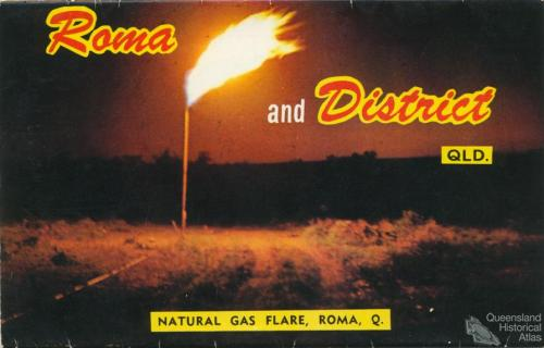 Gas flare, Roma, c1962