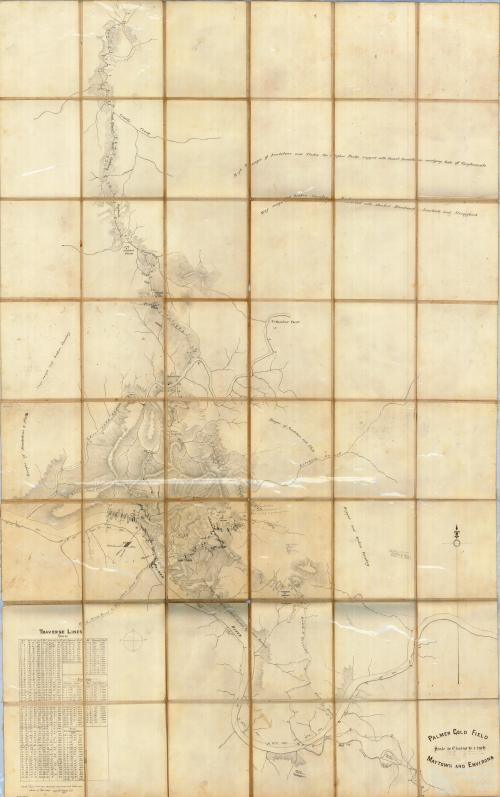 Palmer gold field, Maytown and environs, 1885
