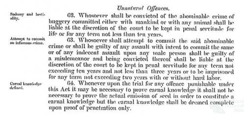 Unnatural offences, 1865
