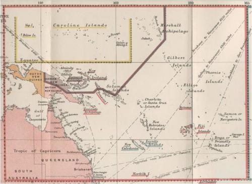 British interests in the Western Pacific Ocean, 1887