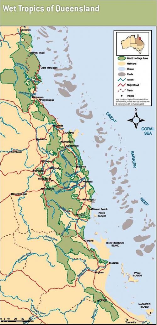 Wet tropics of Queensland, 2008