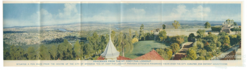 Panorama from the Mount Coot-tha Lookout, c1958