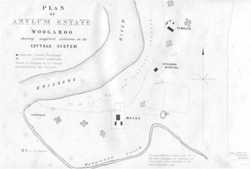 Plan of Asylum Estate Woogaroo (Goodna)